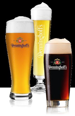 Denninghoffs Pilsener<br /> Denninghoffs Schwarzbier (Black Beer)<br /> Denninghoffs Weizenbier (Wheat)<br /> Denninghoffs dunkles Weizenbier (Dark Wheat)